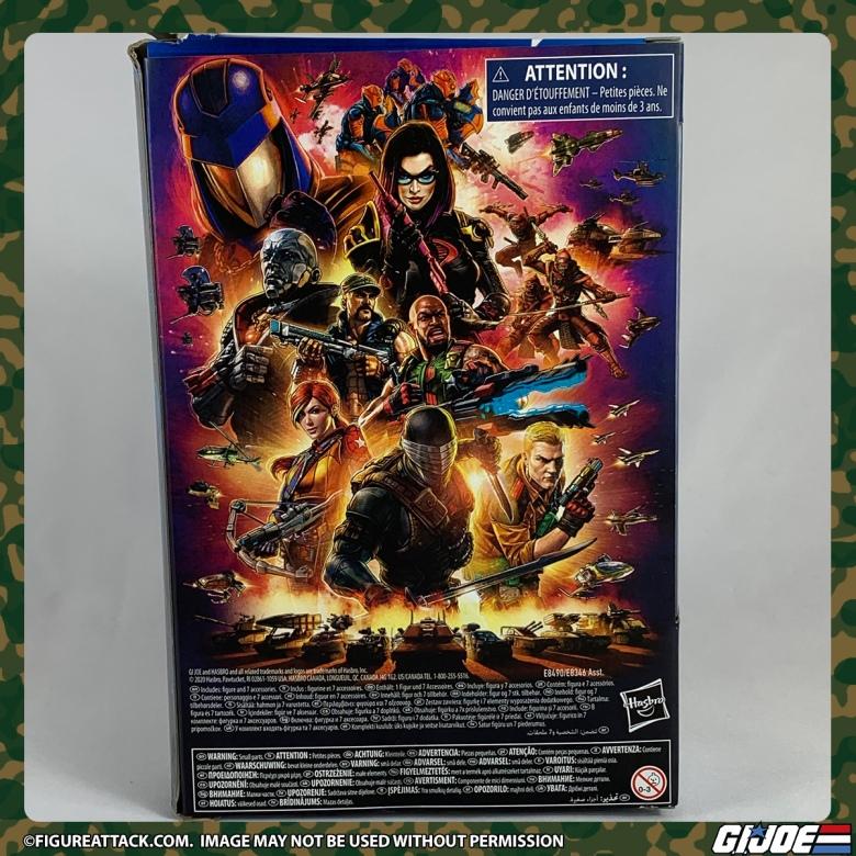 G.I. JOE Classified Snake Eyes Package Back
