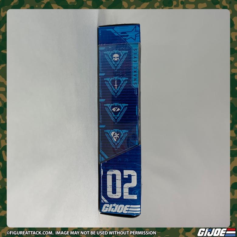 G.I. JOE Classified Snake Eyes Package Side